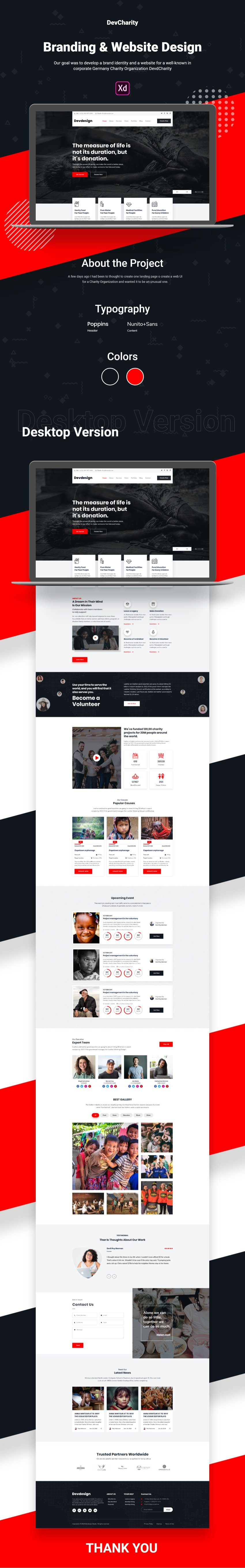 Free charity Web template free design
