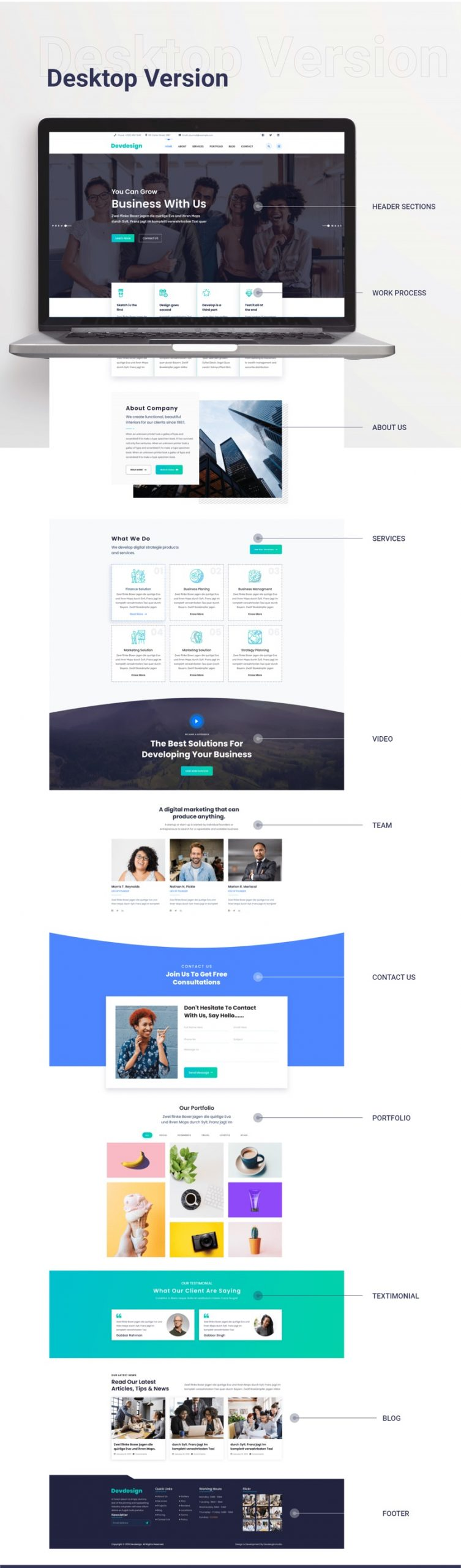 Corporate Clean Landing Page