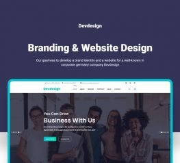 Corporate Landing Page - Xd