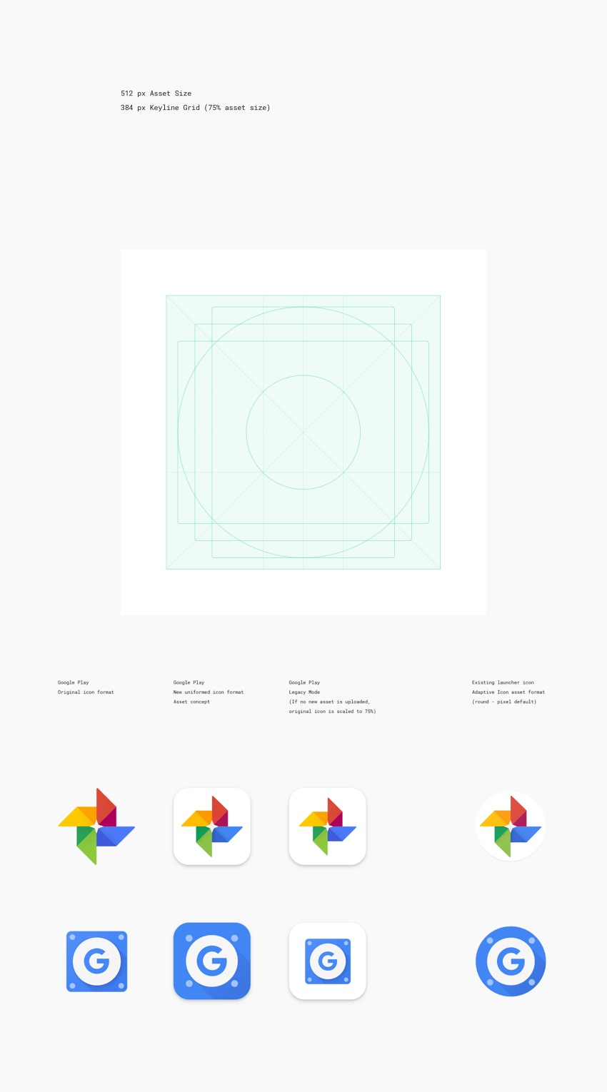 Google Play Icon Template for Sketch, PSD, Illustrator