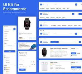 UI Kit for Sketch - Web e-commerce asset