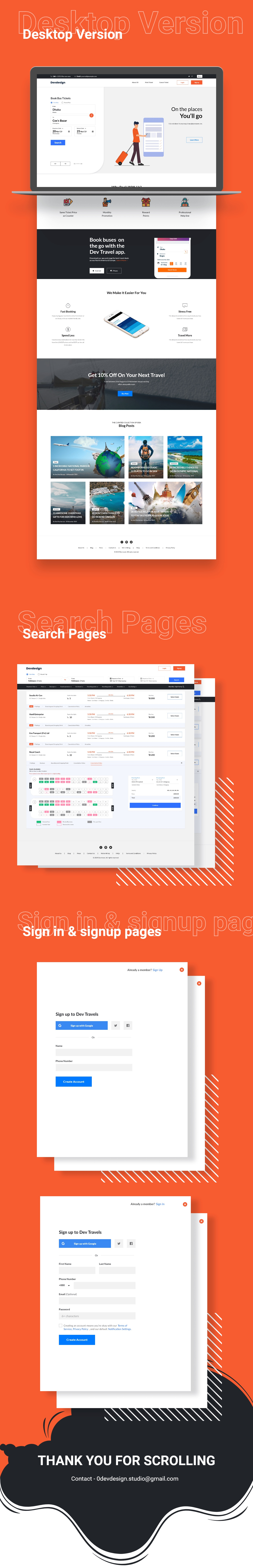 Create Ticket Bus Web Template for Xd