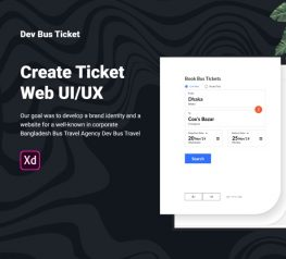 Ticket Travel Bus Agency Web UI Concept for Xd