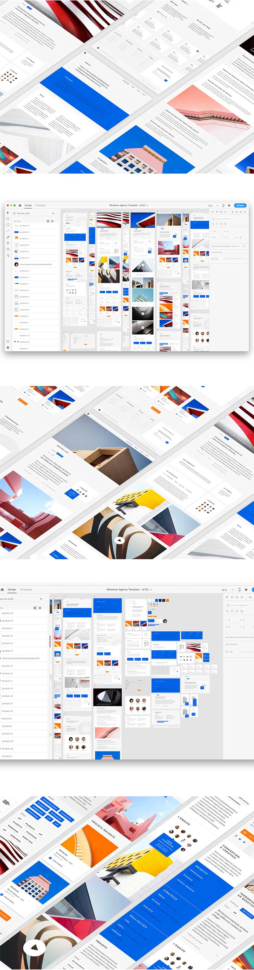 Agency Web Template UI Kit Adobe Xd Template