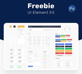Web Interface UI Kit for PSD