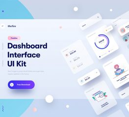 dashboard interface ui kit sktech vector