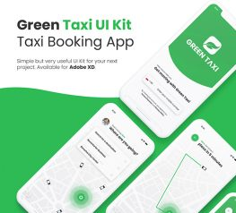 Green Taxi UI Kit - Booking App for Xd