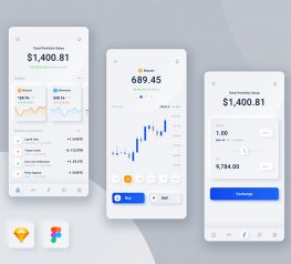 digital money figma app screen clean