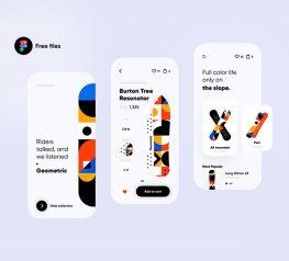 snowboard app winter products app design figma