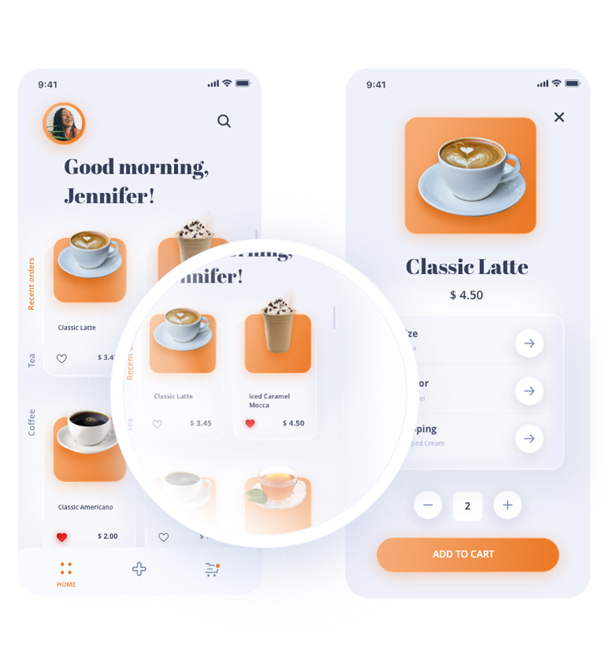 Soft App Template adobe xd