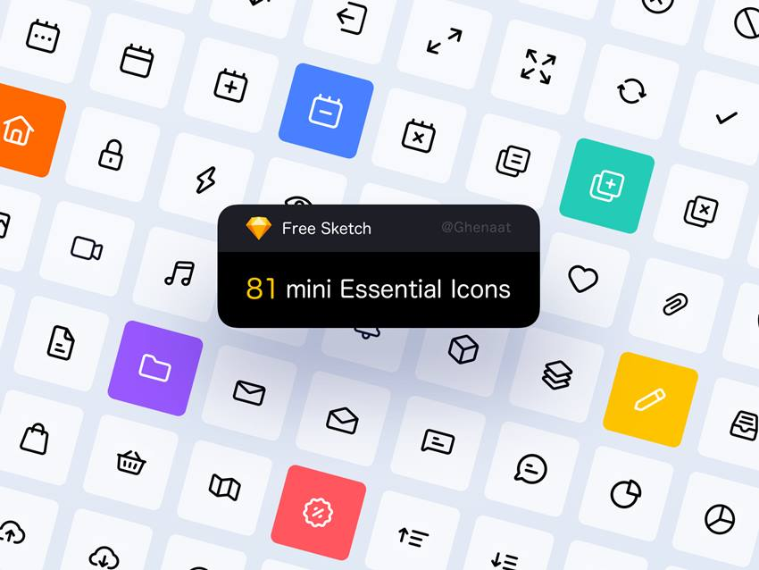 81 Free Mini Essential Icons