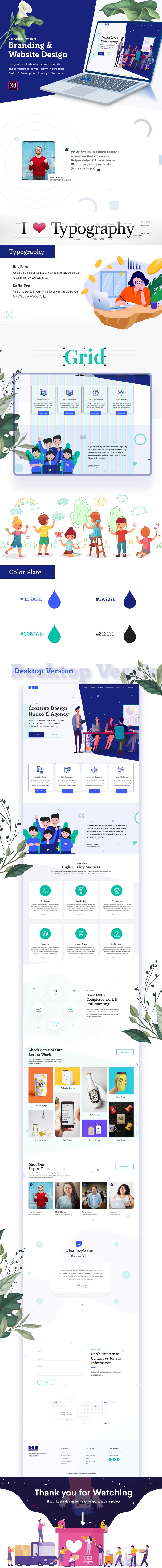 Agency UI Template