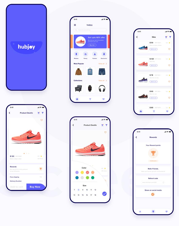 hubjoy screens sketch app online shop