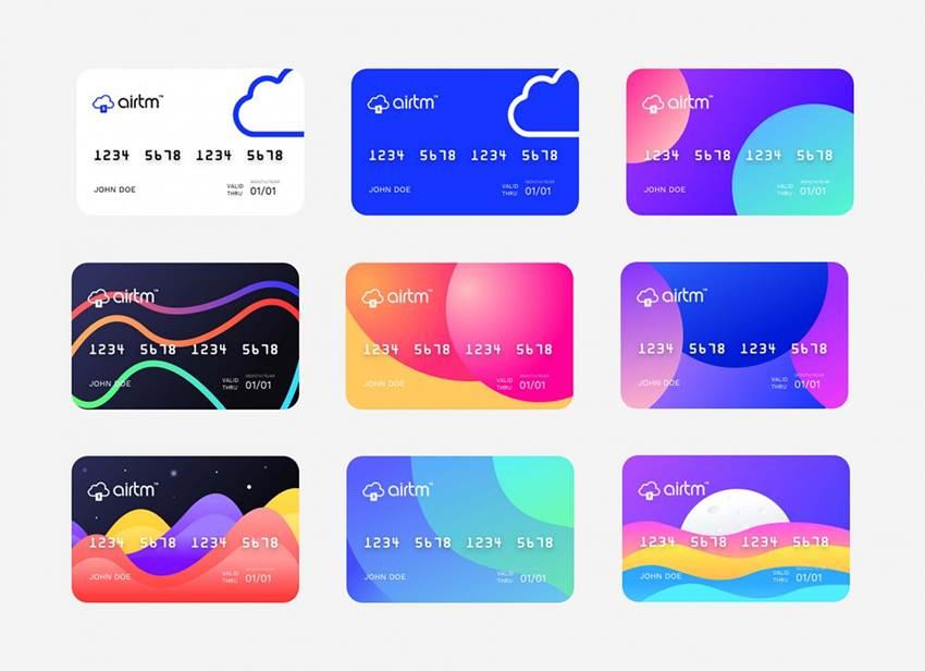 Airtm Virtual Prepaid Card Designs