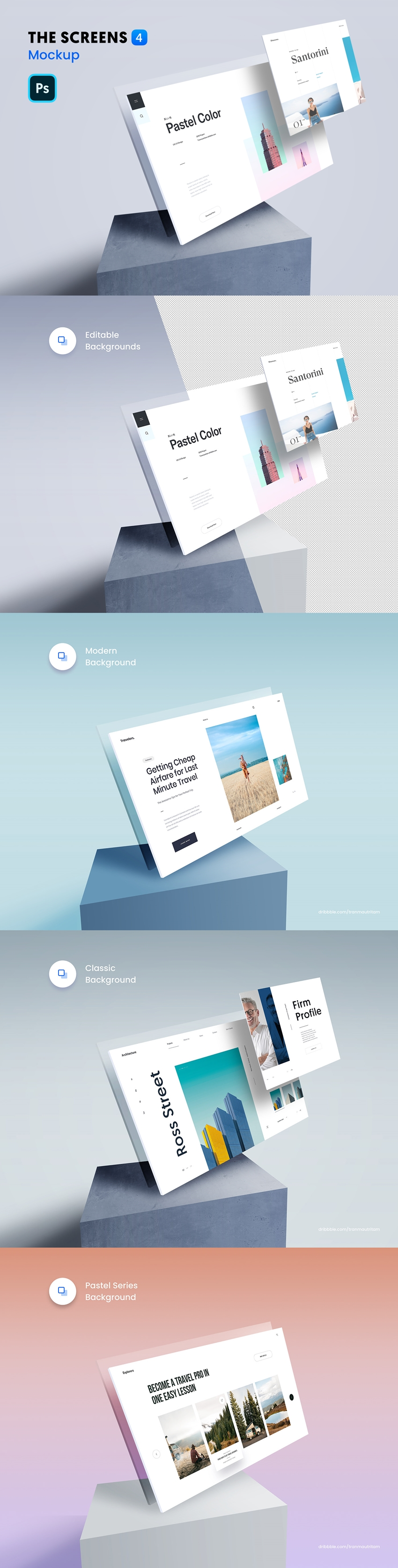 The Screens 4 PSD Mockup