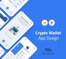 Crypto Wallet App Design UI Kit