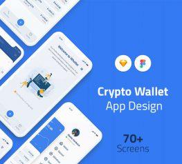 Crypto Wallet App Design UI Kit