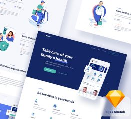 doctor app and website sketch template