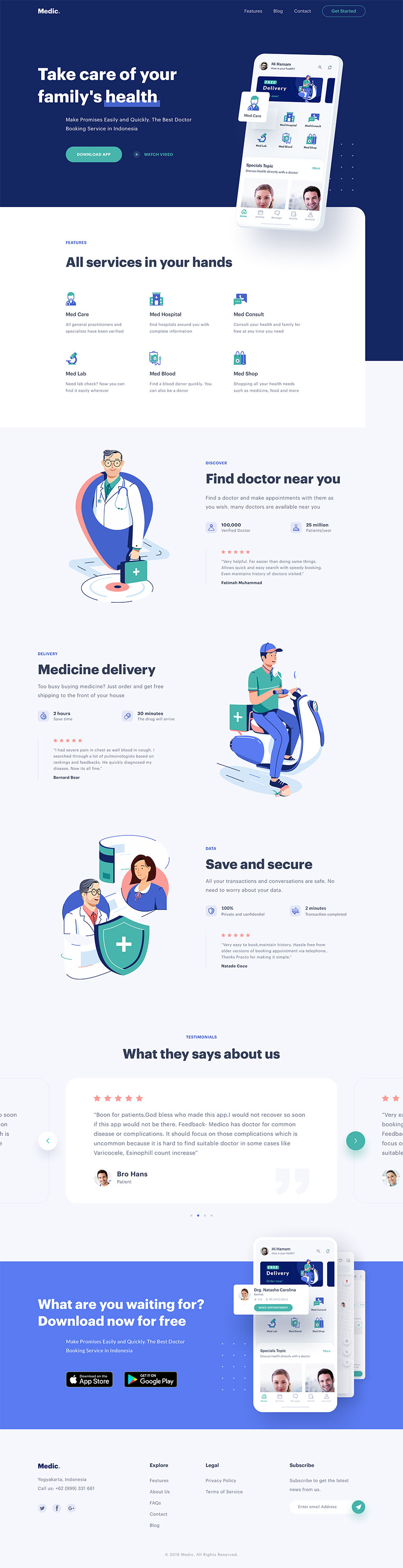Doctor Service Web Theme for Sketch