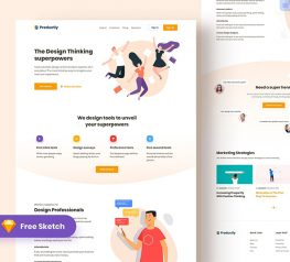 Creative Landing Page sketch template