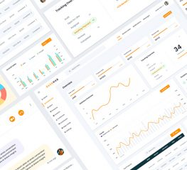 Download for free dashboard UI elements Kit for web adobe xd