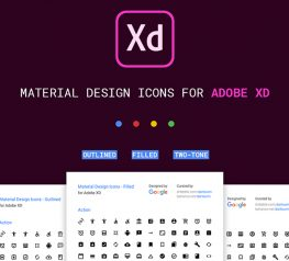 Google Material Icons for Adobe XD two-toned outlined filled