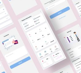 minimalist medical health app adobe xd