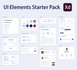 UI elements Free Starter UI Kit for Adobe XD