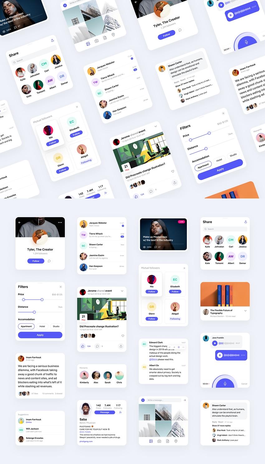 Social App Design UI Kit