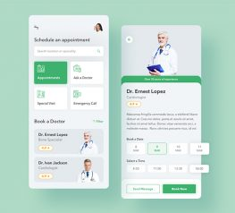 doctor app and medical sketch template