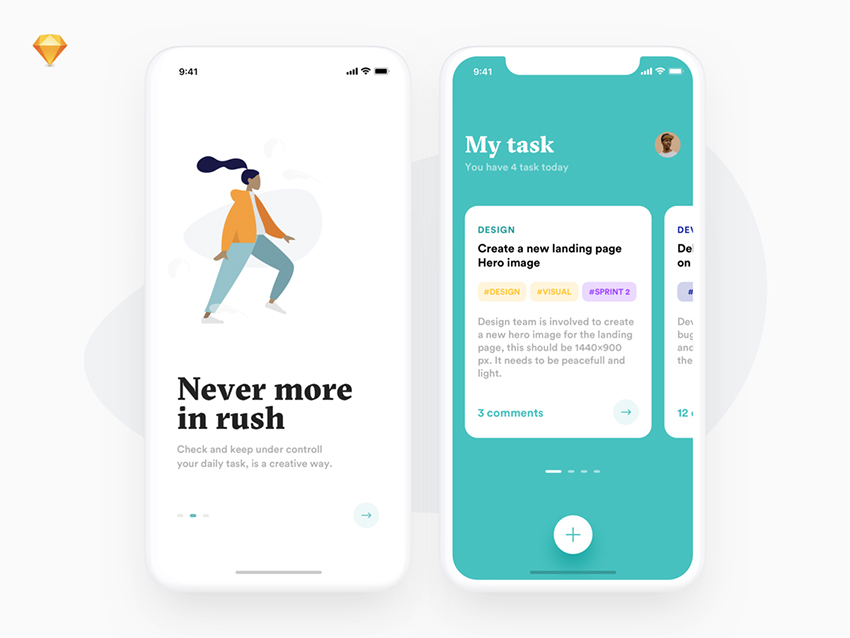 task app sketch design ui