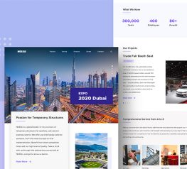 Construction Company Landing Page design sketch include modern design and trendy functionality