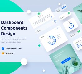 Dashboard Component All screens and elements are fully customizable, well-organized and come in Sketch file