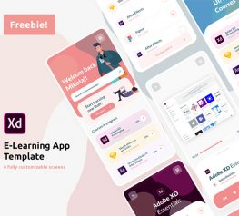 E-Learning Online Courses App adobe xd