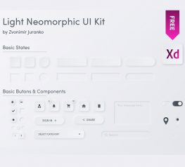 Light Neomorphic Elements for adobexd