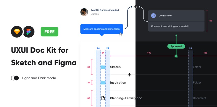 UXUI Doc Kit for Sketch and Figma