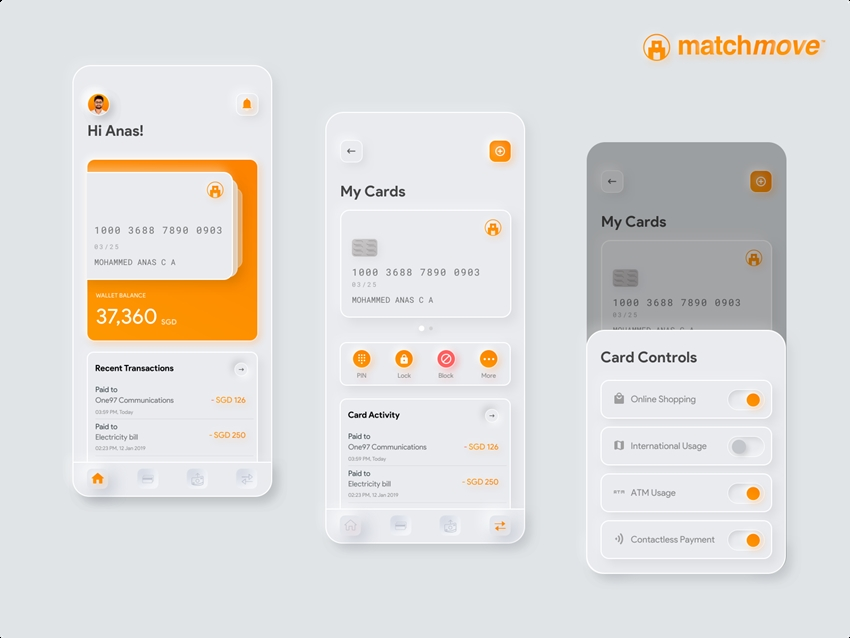Neumorphic Credit Card