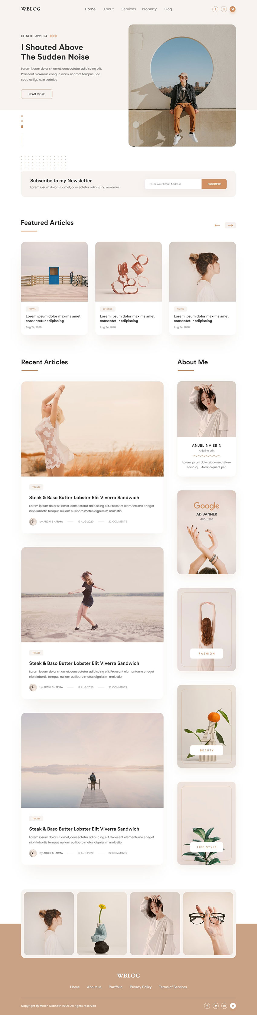 Feminine Blog is a clean and minimalist UX design that offers a crisp and fresh look. Its default layout and fonts create an elegant aesthetic perfect for any feminine blog.
