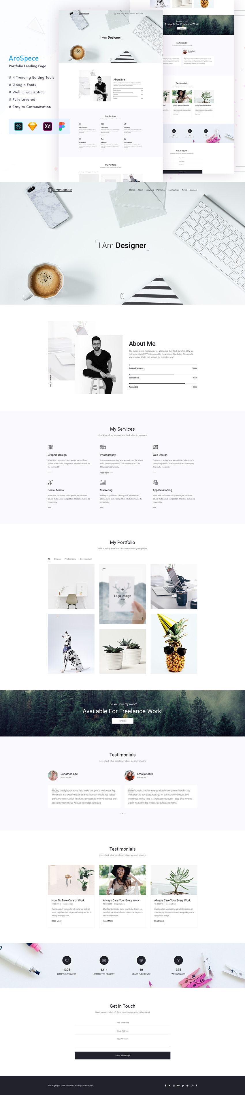 Portfolio Landing Page for PSD