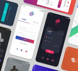 LOGIN SCREENS 10 VERSIONS ADOBE XD
