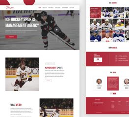 sports agency ui template for adobexd