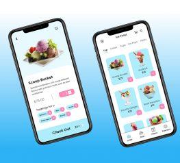 ice cream online orderinfg app adobe xd