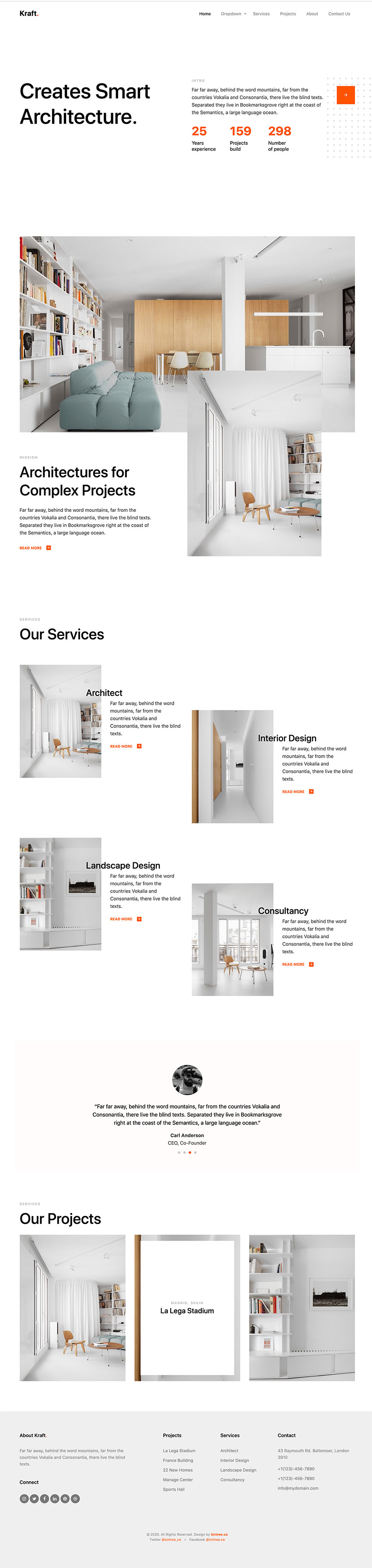 Architect HTML Template bootstrap