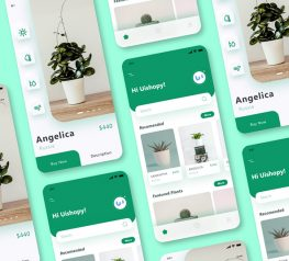 Greenery Shop App UI for adobexd