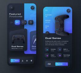 playstation mobile app dark theme sketch free