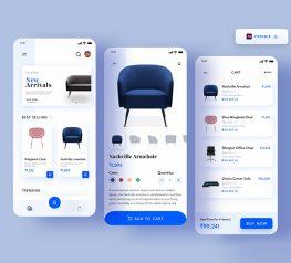 furniture e-commerce app adobe xd