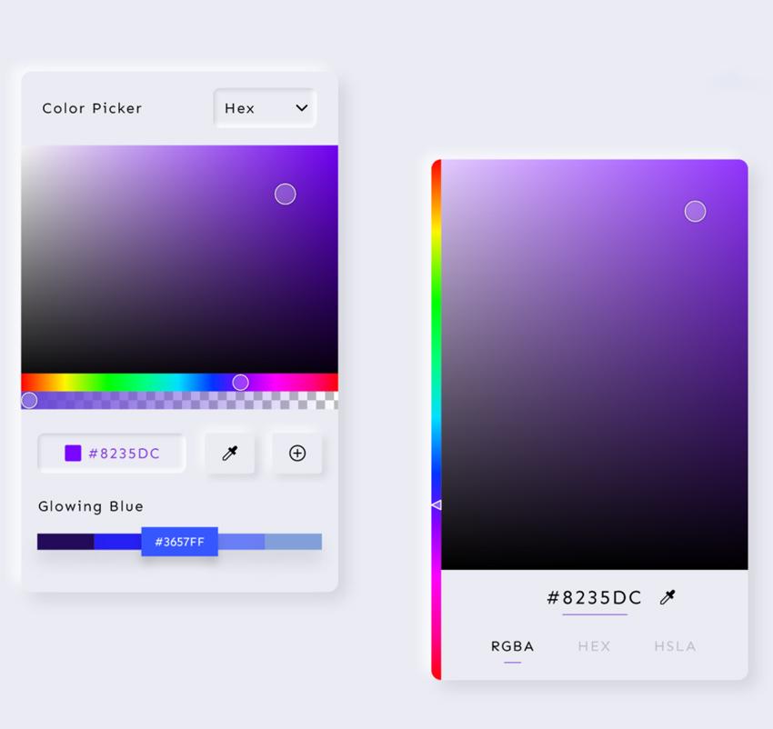 Color Picker UI Design adobe xd