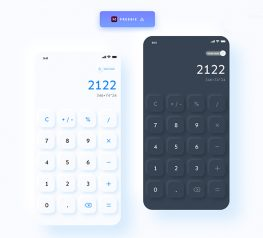 calculator app ui design adobe xd