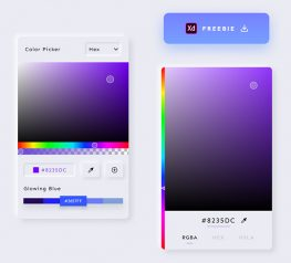 Color Picker UI Design adobe xd
