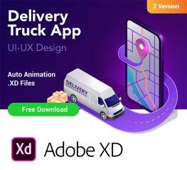 Delivery Truck Tracking App design adobexd